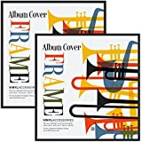 """2 Pack - Top Rated Album Frame - Made to Display Album Covers and LP Covers 12.5"""" x 12.5"""" - Hanging Hardware Installed and No Assembly Required - Easy to Use Album Frame, Album Cover Frame"""