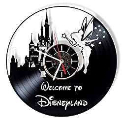 MoniArtDecor Tinkerbell Vinyl Record Wall Clock - Handmade Gift for Any Occasion - Modern Home Decor and Unique Piece of Art