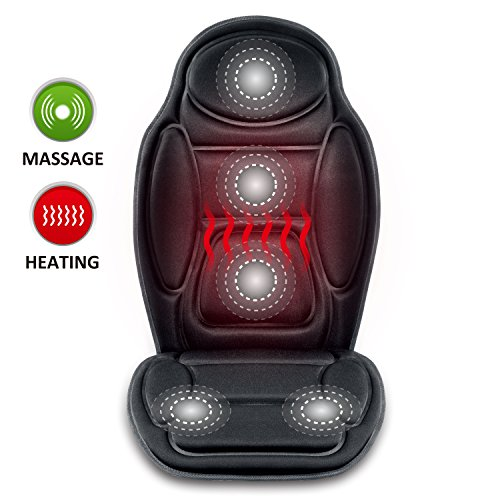 (Seat Cushion Vibrating massage cushion with heat therapy for back lumbar thighs legs at home office Car)