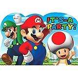 Amscan 491554Einladungskarten, Motiv Super Mario
