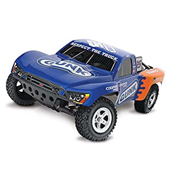 Traxxas Slash 1/10 Scale 2WD Short Course Racing Truck with TQ 2.4 GHz Radio System, Blue/Orange