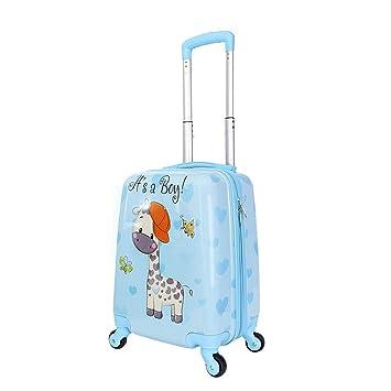 """BAG Maleta de Mano de 18""""con Ruedas para niños Spinner Equipaje de Viaje Rolling"""