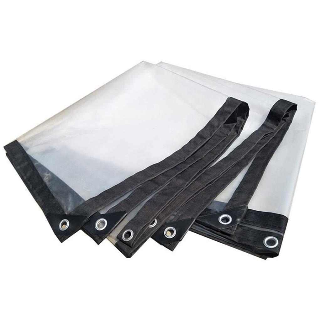 2mx4m Tarps Clear Rainproof Tarpaulin with Grommets Thicken Insulation Tarp Sheet Rainproof Shed Cloth Waterproof Awning  140g m² (Size   2mx4m)