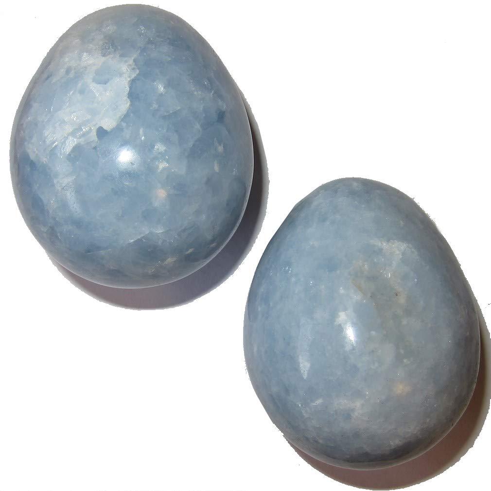 Calcite Eggブルー50天体クリスタルHealing Stone Holy Divination Prayer Gemstone 2.3