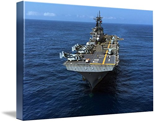 Wall Art Print Entitled The Wasp-Class Amphibious Assault Ship USS Essex (by Celestial Images | 10 x 7