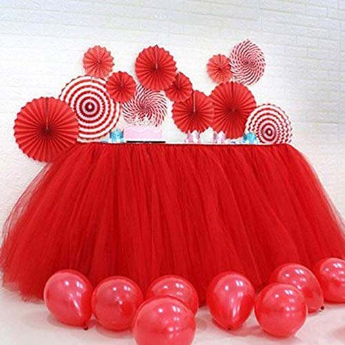 Tulle Table Skirt Tutu Tableware Tablecloth Wedding Table Cover Skirting for Christmas New Year Party Valentine