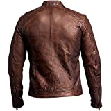 Vintage Cafe Racer Distressed Brown Biker Leather Jacket