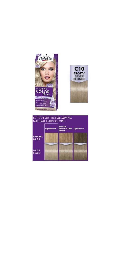 Amazon Palette Intensive Color Creme C10 Frosty Silver Blonde