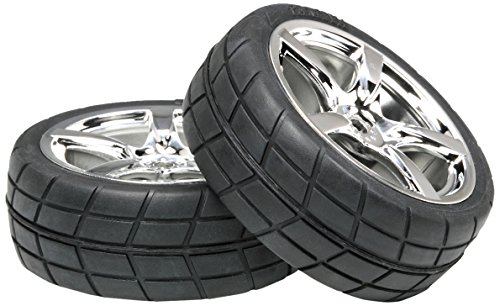 Tamiya 53955 5-Spoke Metal Plated Wheels W/Cemntd Radial - Rc Tamiya Nitro