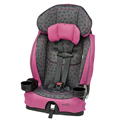 Evenflo Chase LX Harnessed Booster, Tonal Hearts