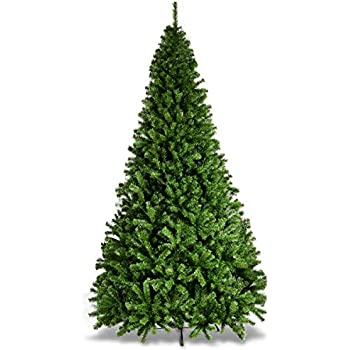 Goplus Christmas Tree Artificial Premium Hinged Spruce Full Tree with Solid Metal Stand (9 feet, Classic Series)