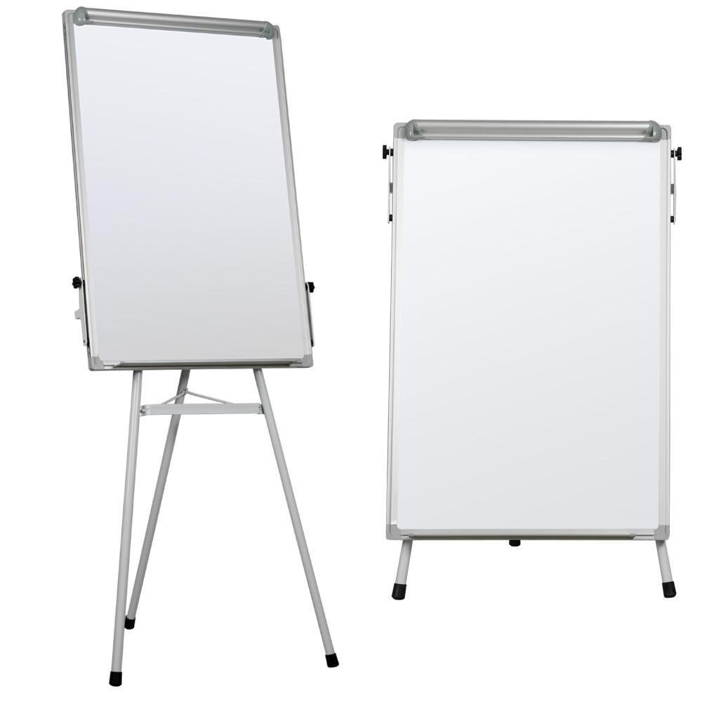Yaheetech Portable Dry Erase Easel Magnetic White Board Dry Erase Board Tripod Whiteboard Flipchart Easel Height Adjustable for Office/Home/School Use with 1 Eraser,3 Magnets(36x24 inches)