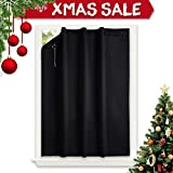 NICETOWN Blackout Curtain Temporary Blinds - Versatile Anywhere Portable Lightweight Drape with Suction
