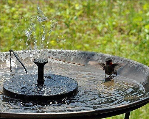 Aurrra Solar Fountain, Solar Fountain Pump 1.4W Solar Panel Kit Water Pump, Pond, Garden, Fish Tank, Outdoor Submersible Pump (2019 New) by Aurrra (Image #6)