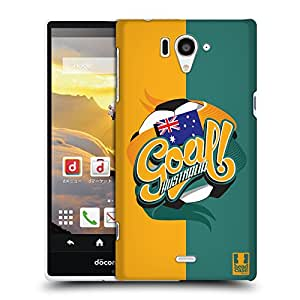 Head Case Designs Australia Football Countries Protective Snap-on Hard Back Case Cover for Sharp Aquos Zeta SH-04F LTE