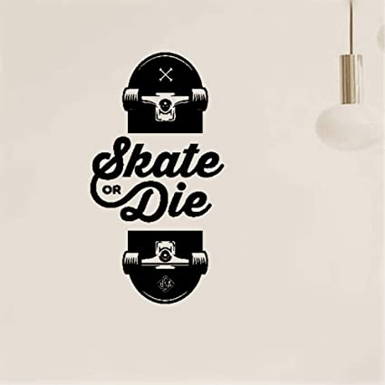 e20d79a49f32 Image Unavailable. Image not available for. Color: Weatyu Vinyl Stickers  Wall Home Decor Wall Decor Art Sticker Home Decals Slogan of Skateboarders  Skate