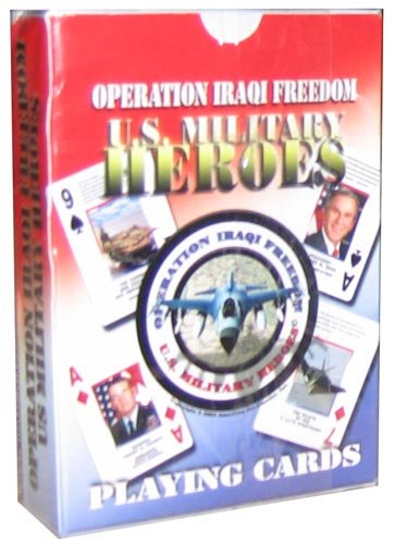 Operation Iraqi Freedom 'Us Military Heroes' Playing Cards by us