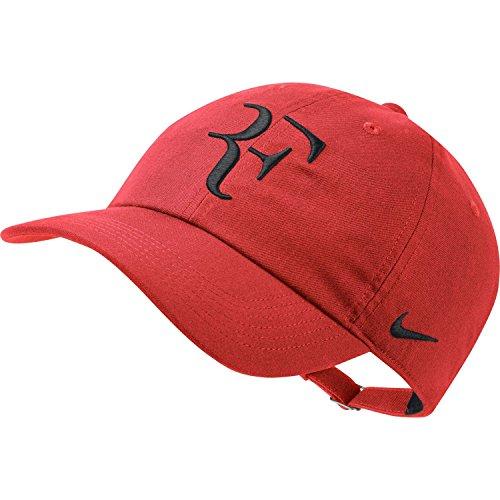 44c5a14493f44 Nike RF Roger Federer Aerobill H86 Cap (Habanero Red/Black)