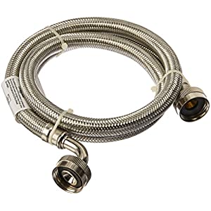 Certified Appliance Accessories WM48SSL2PK Braided Stainless Steel Washing Machine Hose with Elbow (2 Pack), 4'
