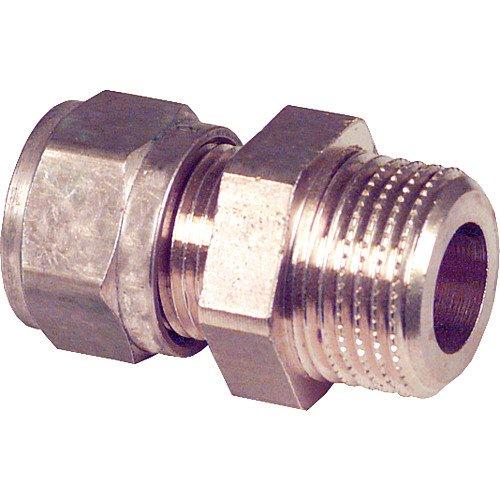AG 22 mm x DN 15 1//2 Klemmringverschraubung aus Messing
