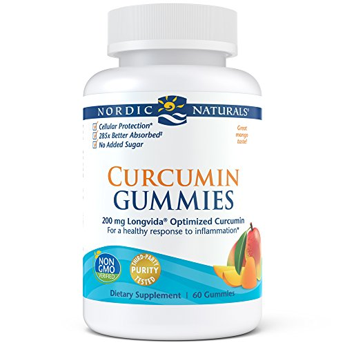 Nordic Naturals Curcumin Gummies – Chewable Gelatin-Free Gummies with 200 mg of Optimized Curcumin Support Healthy Inflammatory Response and Promote Healthy Metabolic Balance, Mango Flavor, 60 Count For Sale