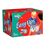 Pampers Easy Ups Trainers for Boys, Size 5, 80 Count