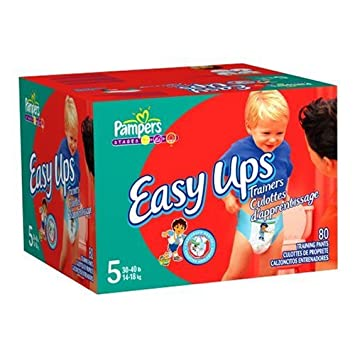 Amazon Com Pampers Easy Ups Trainers For Boys Size 5 80 Count