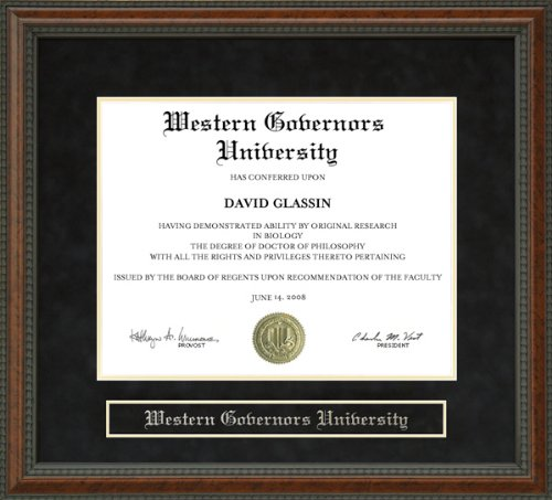 Western Governors University (WGU) Diploma Frame - Burl