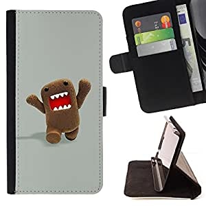 For LG G Stylo / LG LS770 / LG G4 Stylus Funny Character Meme Internet Teeth Style PU Leather Case Wallet Flip Stand Flap Closure Cover