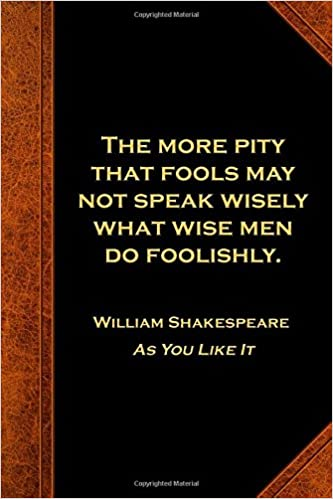 Amazoncom Shakespeare Quote Journal More Pity Fools Speak