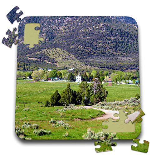 3dRose Jos Fauxtographee- Pine Valley - The View of Pine Valley Utah as You Drive in from Mountain - 10x10 Inch Puzzle (pzl_317903_2)
