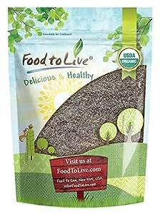 Food to Live Harina de Chia Bio certificada (Eco, Ecológico, no OGM, a granel, kosher) (1 libra)
