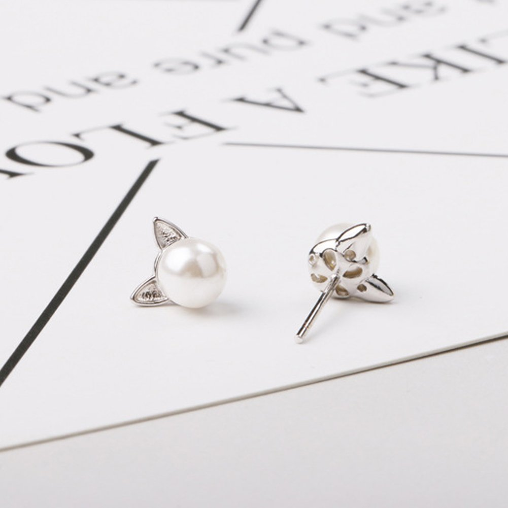 Best Gifts for Her Sterling Silver Freshwater Pearl Earrings Round Ball Studs