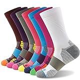 Running Crew Socks, Getspor Unisex Cushion Multicolor Sport...