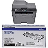 Brother Printer EMFCL2700DW Wireless Monochrome Printer with Scanner, Copier & Fax (Certified Refurbished) and TN630 Standard Yield Toner Cartridge