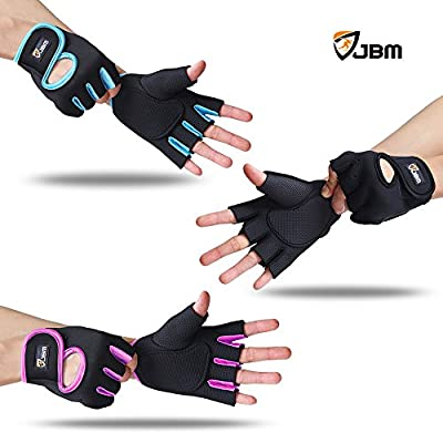 JBM Cycling Gloves Mountain Bike Gloves Fingerless Hand Protector Safe Breathable Lightweight Comfortable Durable Cool for Road Biking Motor Racing Cycling BMX Bicycle Riding Climbing Inline