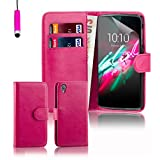 32nd® Book wallet PU leather case cover for Alcatel Idol 3 (5.5 inch) - Hot Pink