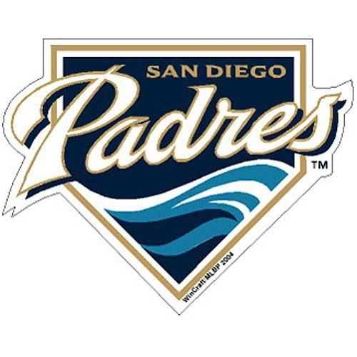 - Wincraft San Diego Padres MLB Precision Cut Magnet
