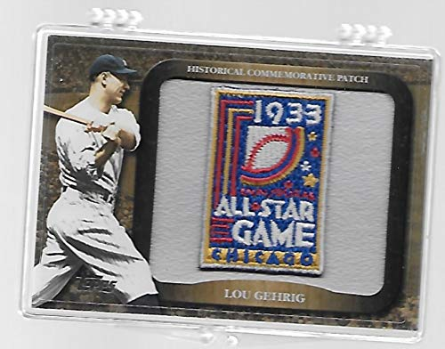 2009 All Star Baseball - Lou Gehrig 2009 Topps Baseball All-Star Game Historical Commemorative Patch Trading Card # LPR-4-1933 All Star Game - Chicago - Stored in a Protective Plastic Display Case!!