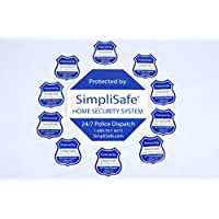 SimpliSafe Home Security System Sign Combo Set Yard Sign x1 Window Decals x10