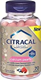 Citracal + D3 Calcium Pearls, 70 Count Per Bottle (6 Pack)