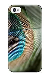 Hard Plastic Iphone 4/4s Case Back Cover,hot Nice Peacock Feather Case At Perfect Diy