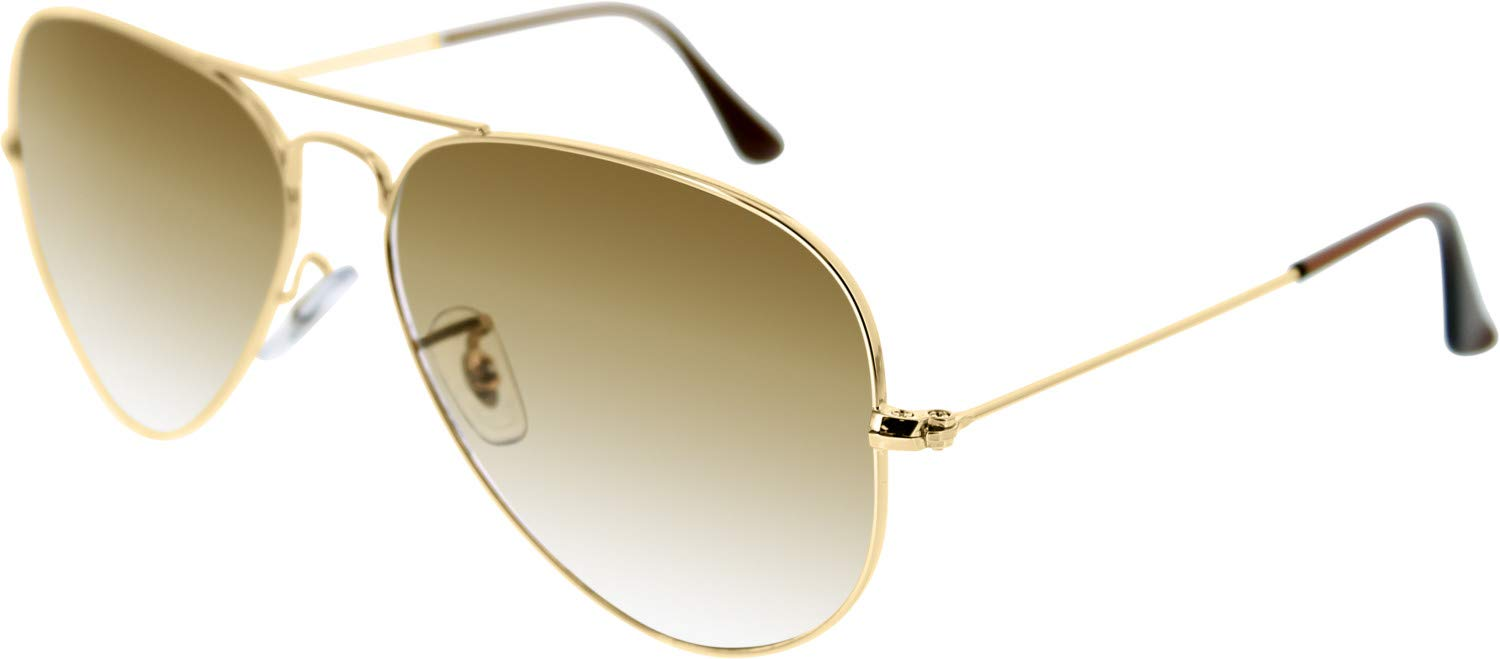 Ray-Ban Aviator Classic, Gold/ Crystal Brown Gradient, 58 mm by RAY-BAN