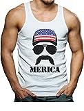 Tstars American Flag Cap Hat - Cool 4th of July Merica Singlet XX-Large White