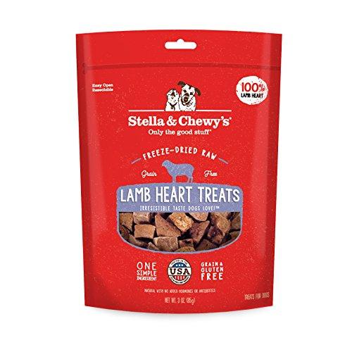 Stella & Chewys Freeze-Dried Raw Lamb Heart Treats, 3 oz bag