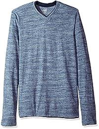 Lee Mens Tipping Long Sleeve Vneck Neck Shirt