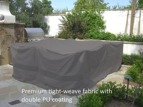 Premium Tight Weave Fabric Patio Set Square Cover 116