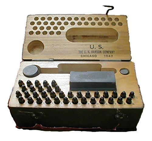 Genuine Memorabilia (WWII Genuine Military Steel Stamp Set Serif Font)