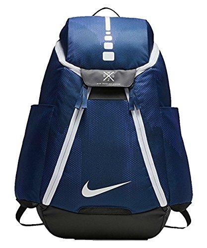 Nike mens ELITE MAX AIR BACKPACK BA5260-425 - SPACE BLUE/BLACK/WHITE (Nike Hoops Elite Max Air Team 2-0 Inside)
