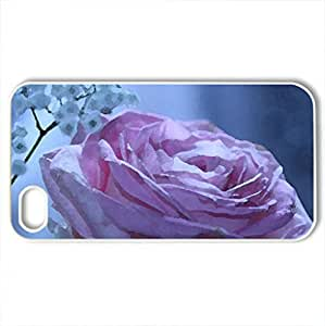 Pink roCase For Samsung Galsxy S3 I9300 Cover (Flowers Series, Watercolor style, White)